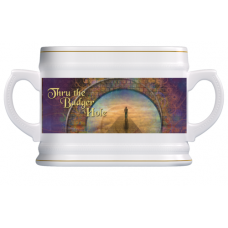 Beer Mug - White and Gold